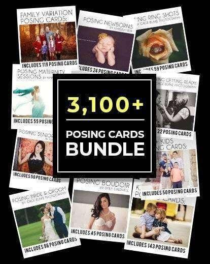 3100+ Portrait Photography Poses Cards Bundle
