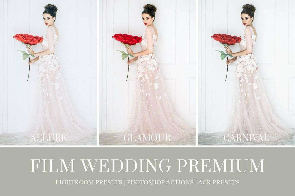 Film Wedding Lightroom Presets - Photoshop Actions