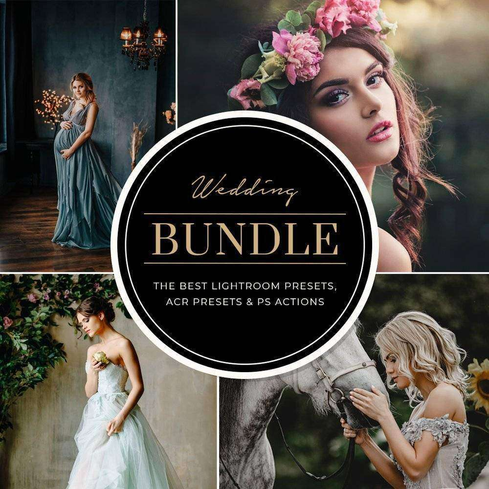 WEDDING BUNDLE: LIGHTROOM PRESETS, PHOTOSHOP ACTIONS AND ACR PRESETS